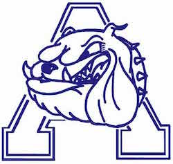 Alliance High school Nebraska Bulldog logo